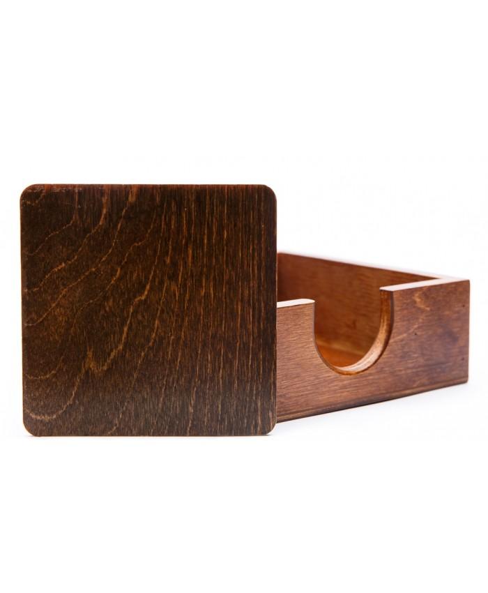 Dřevěná podložka pod sklenice