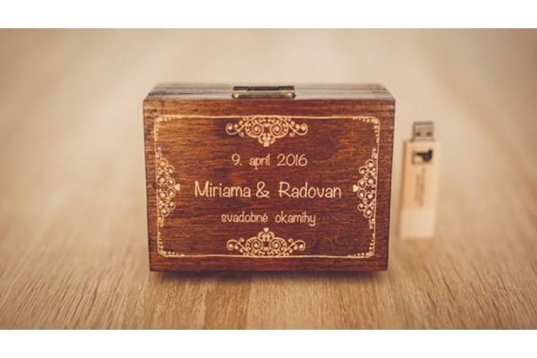 Svatební krabička na USB klíč