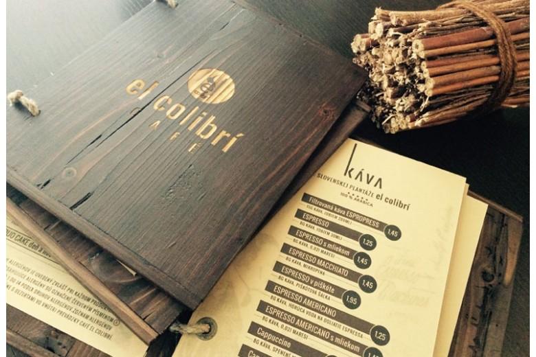 Obal na menu woodland pro Colibri cafe